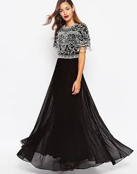 maxi dress with sleeves asos asos beautiful embellished maxi dress with sequin fringe