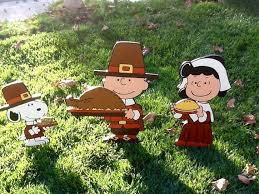 thanksgiving pilgrim peanuts snoopy with corn on by snoopyyardart