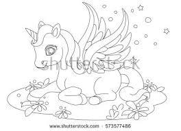 cute pink baby unicorn character stock vector 572299786 shutterstock