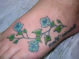 small flower tattoos for foot pretty flower tattoo designs for