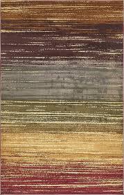 Home Decor Importers Modern Fringeless Striped Rugs Area Carpets Floor Rug Home Decor