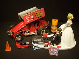 mechanic wedding cake topper sprint car wedding cake toppers pin sprint car cake racecars