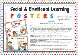 social u0026 emotional learning posters respect responsibility