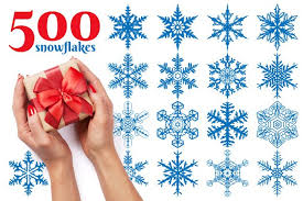 500 snowflake vector ornaments illustrations creative market