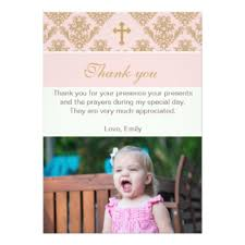 baptism thank you cards invitations greeting photo cards zazzle