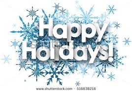 white happy holidays background blue snowflakes stock vector