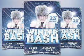 stockpsd net u2013 free psd flyers brochures and more winter bash