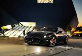 maserati granturismo black maserati granturismo black night light blur building hd wallpaper