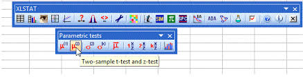 student u0027s t test on two independent samples in xlstat
