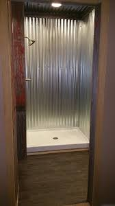 galvanized steel shower bathroom remodel pinterest