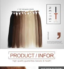 Pre Bonded Human Hair Extensions Uk by Cheap High Quality Neitsi 20inch Soft Straight Keratin Stick I Tip