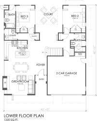 hillside walkout basement house plans ranch house plans with walkout basement mid century modern bat one