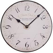 Wall Clock Parchment Wall Clock By J Thomas 12