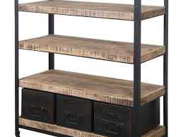 furniture 484138 bookcase with ladder industrial bookshelves