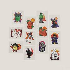amazon com 72 halloween glitter tattoos kids temporary tattoos