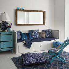 white daybeds with storage decorate my house