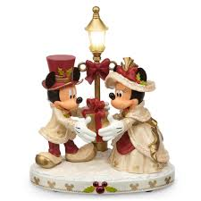 home interior porcelain figurines mickey and minnie mouse light up victorian holiday figurine