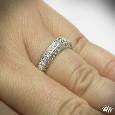 three wedding band three sided pave wedding band 737