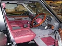 vintage land rover interior home