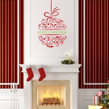 wall decals for christmas fel7 com fund removable merry christmas ball christmas wall art vinyl mural wall decals