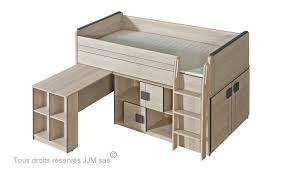 lit combin bureau enfant lit enfant combine bureau 90x200 gum