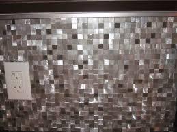 eden mosaic tile 3d silver and pewter aluminum square mosaic tile