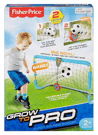 amazon com fisher price grow to pro super sounds soccer playset
