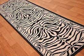 Zebra Runner Rug Shiraz Modern Black Ivory Zebra Print Runner Rug Animal