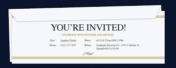 professional event and office invitations evite