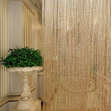 Curtain Separator Tassel Glitter Curtains String Champagne For Living Room Window