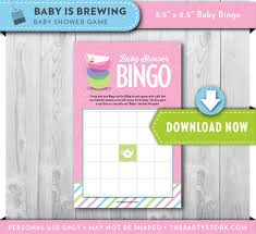 fun baby shower games tea party baby shower bingo cards