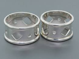 thumb rings for men silver thumb rings for men with geometric motifs