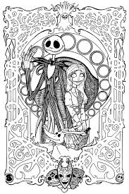 free printables nightmare christmas coloring pages