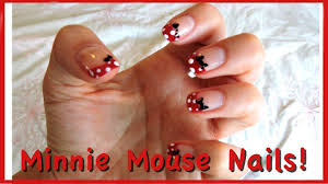minnie mouse nail art 3 easy ways to do french tips youtube