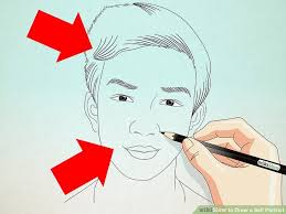 how to draw a self portrait 8 steps with pictures wikihow