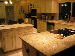 Granite Tile Kitchen Countertops by Venetian Gold Granite Countertops And Tile Backsplash Kitchen