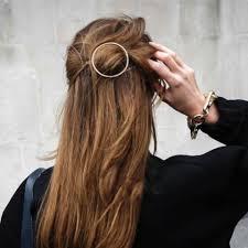 hair barrette trending gold circle hair clip hair pin wedding barrette