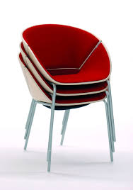 White Armchair Design Ideas Interesting Red Color Modern Stackable Chair Design Ideas Come