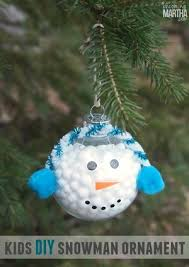 golf snowman ornament craft