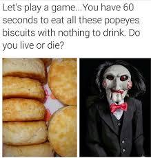 Biscuits Meme - lamar lbd robinson on twitter lmao popeyeschicken does have