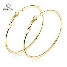 gold hoops earrings woman plated silver gold hoop earrings big circle earrings 20 70