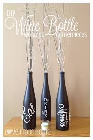 how to make a wine bottle l diy wine bottle centerpieces l ve from home wedding reception