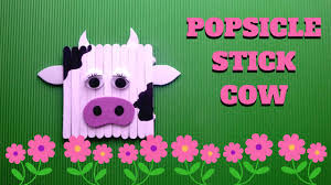 popsicle stick craft popsicle stick cow youtube