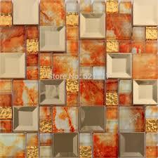 orange gl tile and white bathroom tile ideas on gl tiles modern