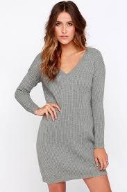 grey dress sweater dress sleeve dress 38 00