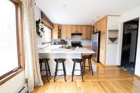 Wood Kitchen Countertops How I Keep Away Kitchen Counter Clutter Bright Green Door