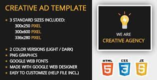 15 creative html5 ad templates with css animations