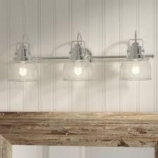 Bathroom Vanity Light Fixtures Chrome Coastal Bathroom Vanity Lighting You Ll Wayfair