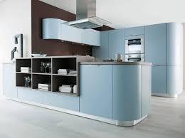 meuble cuisine bleu cuisine design bleu arrondie