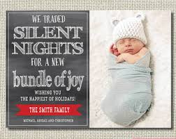 enjoyable inspiration ideas christmas card birth announcement